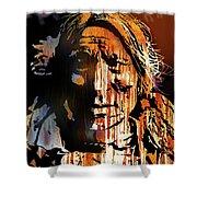 Oglala Warrior Shower Curtain