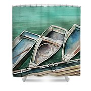 Ogunquit Maine Skiffs Shower Curtain