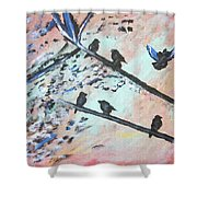 Oh Birdy Shower Curtain