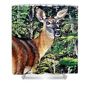 Oh Deer Shower Curtain