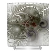 Oh That I Had Wings - Fractal Art Shower Curtain