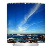 Oh The Beauty  Monterey Peninsula Ca  Shower Curtain