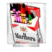 Oh These Arnt Cigarettes Just Crayons Shower Curtain
