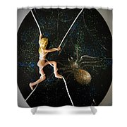 Oh What A Wicked Web Shower Curtain