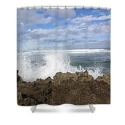 Ohau Splash Shower Curtain
