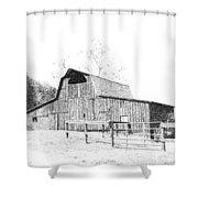Ohio Barn Shower Curtain