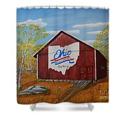 Ohio Bicentennial Barns 22 Shower Curtain