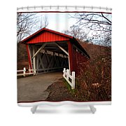 Ohio Covered Bridge Shower Curtain