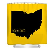 Ohio Is Home Base Black Shower Curtain