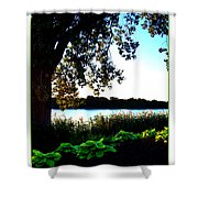 Ohio Pond Shower Curtain