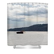 Ohio River Barge  Shower Curtain