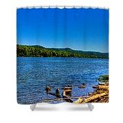 Ohio River Bank Shower Curtain