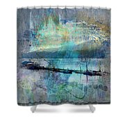Ohio River Splatter Shower Curtain