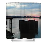 Ohio River View Shower Curtain