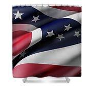 Ohio State Flag Shower Curtain
