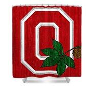Ohio State Wood Door Shower Curtain