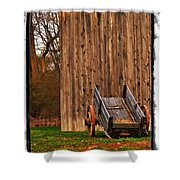 Ohio Wheelbarrel In Autumn Shower Curtain