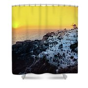Oia Town , Santorini Island, Greece Shower Curtain