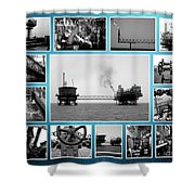 Oil And Gas Industry Shower Curtain