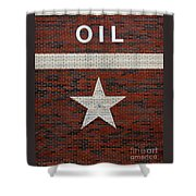 Oil And Texas Star Sign Shower Curtain
