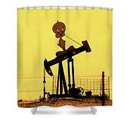 Oil Baron Tweety Shower Curtain