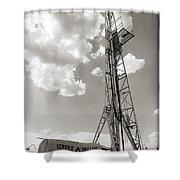 Oil Derrick II Shower Curtain