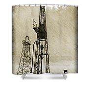 Oil Derrick Vi Shower Curtain