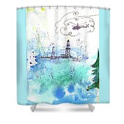 Oil Drilling Shower Curtain