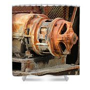 Oil Field Electric Motor Shower Curtain