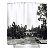 Oil Field Residential Los Angeles C. 1901 Shower Curtain