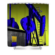 Oil Industry Well Pump Shower Curtain