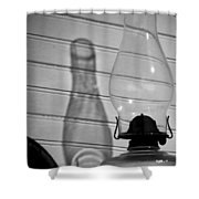 Oil Lamp B And W Shower Curtain