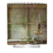 Oil Lamp Shower Curtain