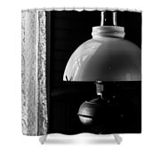 Oil Lamp On Table Shower Curtain