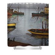 Oil Msc 024  Shower Curtain