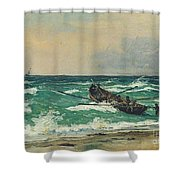 Oil Painting Danish Golden Age Shower Curtain