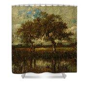 Oil Painting Landscape Shower Curtain