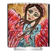 Oil Pastel Angel Shower Curtain