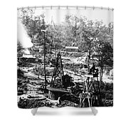 Oil: Pennsylvania, 1863 Shower Curtain