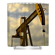 Oil Pumpjack II Shower Curtain