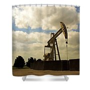 Oil Pumpjack Shower Curtain