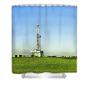 Oil Rig In North Dakota Shower Curtain