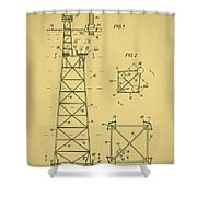 Oil Rig Patent Shower Curtain