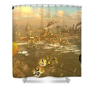 Oil Rush Shower Curtain