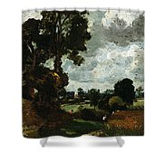 Oil Sketch Of Stoke-by-nayland Shower Curtain