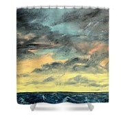 Oil Skyscape Painting Shower Curtain