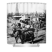 Oil: Texas, 1920 Shower Curtain
