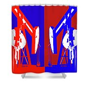 Oil Well Pump Abstract Shower Curtain
