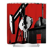 Oil Well Pump #4 Shower Curtain