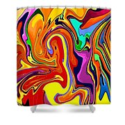 Oily Abstract Shower Curtain